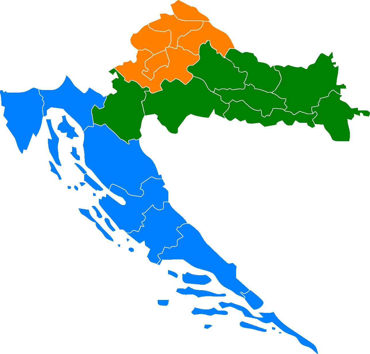 NUTS of Croatia